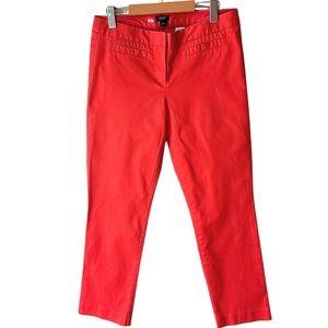 J. Crew Orange Stretch City Fit Cropped Pants Size 6